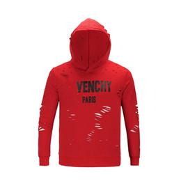 camisas de los hombres de la moda europea Rebajas 2019 el último diseño de moda Los hombres europeos y americanos de alta calidad agujero camiseta de algodón suéter casual camiseta de la mujer giv camiseta.