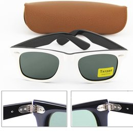 Wholesale Best Brand Sunglasses Men - Best Quality Brand Sun glasses mens Fashion Txrppr White black Frame Sunglasses Designer Glasses Eyewear For mens Womens