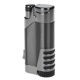 Wholesale Cohiba Torch - New Arrival COHIBA Metal Cigar Lighters Straight Inflate The pneumatic Lighters Creative Windproof Torch Electronic Cigarette Lighter