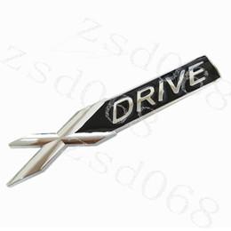 Spiegel bmw x5 online-2 stücke Auto 3D Metall Chrom Abzeichen X DRIVE Emblem Abzeichen Aufkleber für BMW 3 4 5 6 7 Alle Serie X1 X3 X5 E70 X6 E71 Auto dekoration