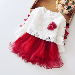 Wholesale Girls Lace Dress Brooch - Boutique summer Children's clothing sweet thin yarn tutu dress +gift one Brooch flowers Two-piece Cotton Girls dresses Free Shipping H012
