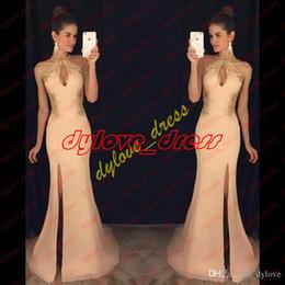 Argentina 2017 sexy largo prom vestidos sirena princesa africana lado dividir sin mangas formal vestidos de noche vestidos con vestidos de noche de encaje Suministro
