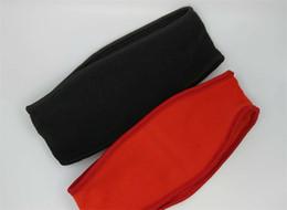 Wholesale Fleece Headband Black - Hot Supre Riding Headbands Fleece Black Red Wool Hair Band Sweatband With Logo Free Shipping