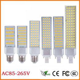 bulbe de maïs g24 Promotion E27 E14 G24 G23 SMD5050 LED lumière plate ampoule de maïs Prise horizontale Led lampe de lumière