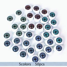 Canada Pas auto-adhésif 50PC 8mm reborn poupées yeux ovale creux yeux en plastique pour masque de poupée DIY B yeux poupée accessoires Offre
