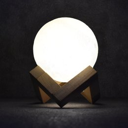 Yeni Geldi LED 3D Ay başucu lambaları masa lambaları dokunmatik dekorasyon ile yaratıcı dekorasyon ışıkları telekontrol modu cheap led table decoration lights nereden masa dekorasyon lambaları led tedarikçiler