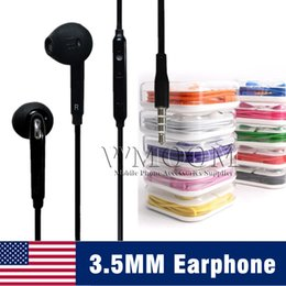 3,5 mm Weiß Ohrhörer In-Ear-Stereo-Kopfhörer mit Mikrofon und Lautstärkeregler Kopfhörer für Telefon 5 6 6 s plus Samsung S6 S8 von Fabrikanten