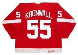 5d7087384f3 China Men  55 NIKLAS KRONWALL Detroit Red Wings CCM Vintage Hockey Jersey  or custom any