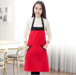 Wholesale Cooking Works - Blank apron Men's and women's household waterproof antifouling fashion apron unisex cooking work apron 4 color KKA4345