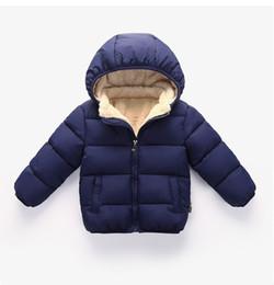 Новая зима дети теплый хлопок мягкий девочки мальчики кашемир пуховик пальто ребенка утолщенной от