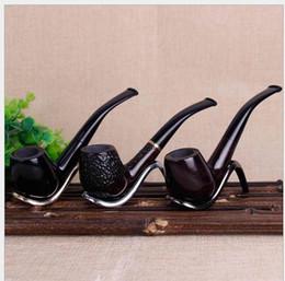 Tubulação quente on-line-Novo Hot 508 Ebony Pipe Bending Tipo Balde Handle Mão Tabaco Balde