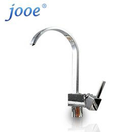 Wholesale Single Square Kitchen Faucet - jooe Modern Luxury square Brass plate chrome kitchen faucet hot and cold mixer sink faucet 360 rotating water tap torneira LT01