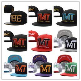 Wholesale cheap black top hats - Top Selling Newest Fashion Wholesale-Full black the team money Snapback caps hiphop adjustable hat men & women classic baseball Hats Cheap