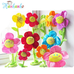 Wholesale Red Cotton Curtains - Wholesale- 10pcs Set Sunflower Plants Toy Curtain Buckle Baby Bed Hanging Home Decoration