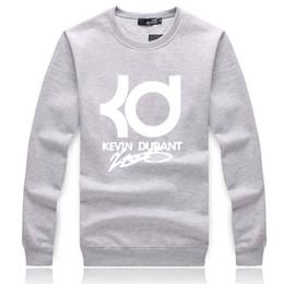 Autumn winter Fashion KD basketball star Men fleece Sweatshirts Hip Hop  sportwear suit Men's hoodies ding