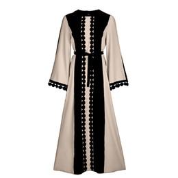 Abaya xl online-2018 neue vintage islamische kleidung frauen schlank sommer casual dress lange abaya hülse weiches kleid für muslimische frau heißer verkauf