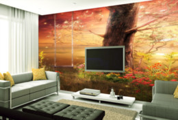 Wholesale Country Kitchen Sets - 3D Wallpaper Custom Any Size Mural Wallpaper TV setting wall fairy wonderland dreams Personality Wall Mural Wallpaper Painting