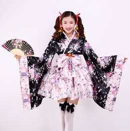 empregada doméstica Desconto Bliss terra pura kimono maid roupa cos antigo anime japonês conjunto completo linda Lolita feminino roupas Cosplay