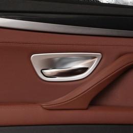 Wholesale chrome door handle cover bowls - 4pcs Chrome Door Handle Bowl Cover Trim for BMW 5 Series F10 520 528 525 2011-2017 Car Accessory