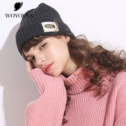 9f7f6818d47 Casual Winter New Products Hat female Fashion Women s hats Korean version  knitted hat women black winter hats for women Solid