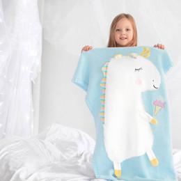 2019 sac de couchage dessin animé pour enfants Couvertures Licorne 3D cartoon couvertures d'oreille sac de couchage dessin animé pour enfants pas cher