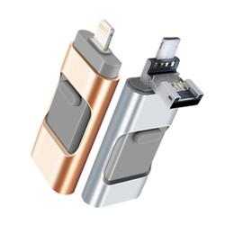 2019 azionamento del usb del telefono delle cellule 3-in-1 USB Flash Drive U Disk Memory Stick Adattatore di memoria USB Flash Drive per iPhone Android Cell Phone Computers (16GB) sconti azionamento del usb del telefono delle cellule