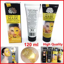 acne remover creme Desconto Colágeno de Ouro Peel Off Máscara Facial de Limpeza Profunda 120 ml máscara de Cristal Removedor de Cravo Máscaras Faciais Cuidados Com A Pele DHL frete grátis