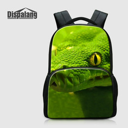 Wholesale Multifunctional Laptop Backpack - Unique Snake Lizard Printing Multifunctional Backpack With Laptop Pocket Cotton Middle Students School Bags Bookbag Boys Mochila Pack Rugtas