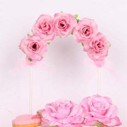 Toppers do queque do feliz aniversario on-line-15x21 cm flor Bolo Cupcake Topper feliz decorações da festa de aniversário para crianças adultos decorações de casamento Fontes Do Partido