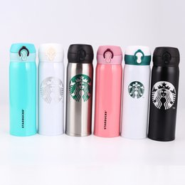 Wholesale Hot Coffee Drinks - 500ml Stainless Steel Starbucks Portable Cups Coffee Water Cup Insulation Vacuum Cars Beer Mugs Hot sale 170822