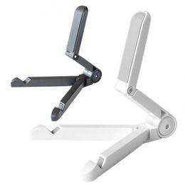 Nouveau support de support de support réglable pliable pour iPad Tablet PC support de téléphone portable noir / blanc pour le choix XXM ? partir de fabricateur