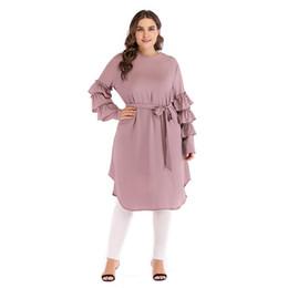 Automne Femmes O-cou Perles Plus Size Dress Vintage Vintage Manches Longues Au Genou Robe Casual Avec Ceinture ? partir de fabricateur