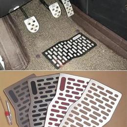 pédales en aluminium Promotion Tapis de sol pour voiture Tapis Aluminium Aluminium Pad Plate Pédale Repose-pieds Tapis tapis pour Dodge Journey Avenger Calibre Challenger 2008-2018