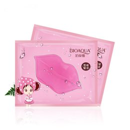 Wholesale mask lips - BIOAQUA Crystal Collagen Lip Mask Moisture Essence Lip Care Pads Anti Ageing Wrinkle Patch Pad Gel For Makeup