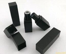 Wholesale Plastic Grade - free shipping 100pcs empty high grade plastic lipstick tube ,black outter square shape inner DIY lipstick tube