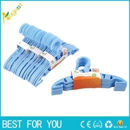 Wholesale Clothes Hangers Plastic Kids - 40pcs set Durable Kids Baby Plastic Coat Clothes Garment Trousers Hangers