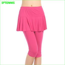 falda de correr xl Rebajas Culottes de mujer elásticos Thin Running Tennis Leggins de compresión de baile Falda dividida de deportes