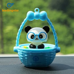 Wholesale Solar Swing Toys - Wholesale- LeadingStar Swing Toy Solar Powered Automatic Dancing Panda with Glasses Plastic Decoration gifts for children Panda zk30
