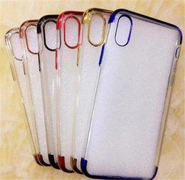 Articles de gros soft TPU Clear cas de galvanoplastie Transparent Housse de protection Skin pour iPhone 8 7 plus Samsung ? partir de fabricateur