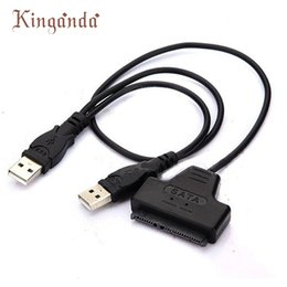 """Wholesale New Pin Usb Cable - GRACEFUL New USB 2.0 To SATA 7+15 Pin 22 Pin Adapter Cable for 2.5"""" inch Hard Disk Drive HDD JAN31"""