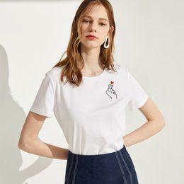 751b56a6ae447 2019 t-shirt mignon femme coréenne T-shirt à manches courtes de l