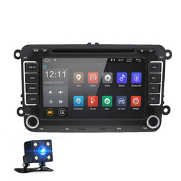 2019 wifi hd video mp3 mp4 player 7 pulgadas 2 Din Android 8.0 Reproductor de DVD DVD para el coche Navegación GPS Radio estéreo para VW Volkswagen T5 Touran con cámara de visión trasera Canbus