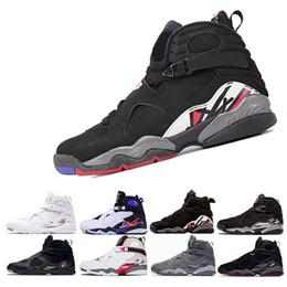 Wholesale aqua basketball - 8 8s VIII men basketball shoes Aqua black purple Chrome Playoff red Three Peat Athletic sports sneakers size 8-13