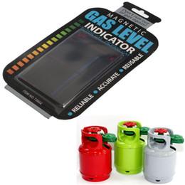 Wholesale Wholesale Butane Fuel - 5pcs a lot color change Practical Propane Butane LPG Fuel Gas Tank Level Indicator Magnetic Gauge Bottle