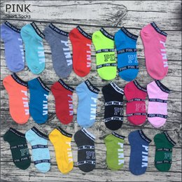 Canada Pink Letter Socks Rose Anklet Sports Hosiery Coton Mode Chaussettes Courtes Slipper Girl Sexy Love Rose Ship Socks Sous-Vêtements D'été pour Sports cheap girls shortest underwear Offre