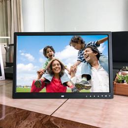 2019 рамы для картин mp4 EU / US Plug 17 дюймов HD Цифровая фоторамка электронный альбом фронтальные сенсорные кнопки многоязычный светодиодный экран фотографии музыкальное видео дешево рамы для картин mp4