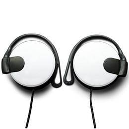 Wholesale Mega Bass Earphone - Earphones with Thick String Wire Ear Hook Type Mega Bass Earphone Headphone Headset For 3.5mm PC Mobile Phone MP3 MP4