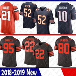 f155ad281 52 Khalil Mack Chicago Bears Jersey Patriots 10 Josh Gordon 21 Denzel Ward  Cleveland 95 Browns Myles Garrett 80 Landry 22 Jabrill Peppers 99