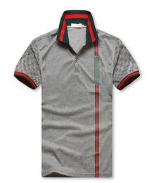 Wholesale luxury t shirt for men - Brand New Men's G***I short sleeves polo shirt 8958 T-shirt Embroidery Polo Shirt For Men luxury Polo Men Cotton Short Sleeve shirt grey