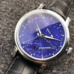 Wholesale brands japanese movement watches - AAA Top brand mens watches luxury Japanese movement leather strap moonphase daydate male Quartz wrist watch for man Water Resistant relogios